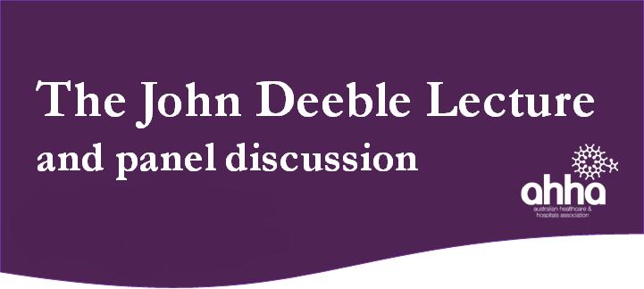 John Deeble Lecture
