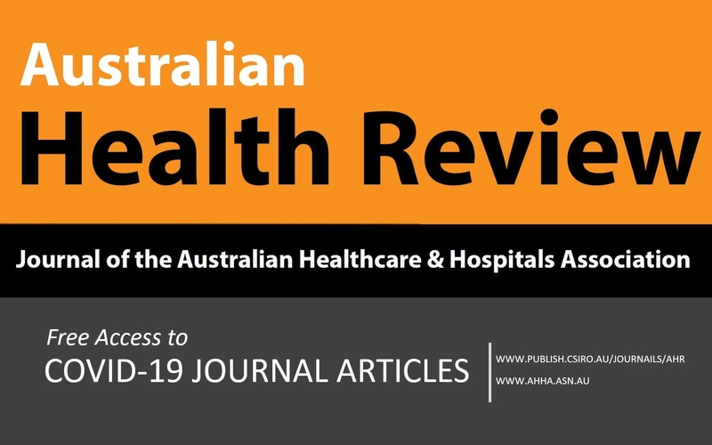 Australian Health Review - Free Access to COVID-19 Articles
