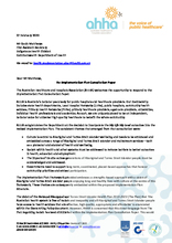 AHHA Submission in response to the Indigenous Health Division's Implementation Plan Consultation Paper