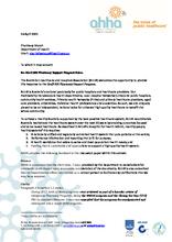 AHHA response to the Draft IHS Pharmacy Support Program