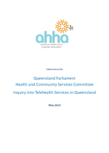 Queensland Parliament Health and Community Services Committee Inquiry into Telehealth Services in Queensland