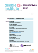 Deeble Perspectives Brief No. 13: rpavirtual - A new way of caring