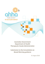 AHHA Submission to the Therapeutic Goods Administration Consultation on Boxed Warning guidance