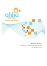 AHHA Submission to the Productivity Commission Inquiry Into Mental Health