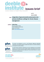Deeble Issues Brief No. 35: Integration of GPPs into primary healthcare settings for chronic disease management