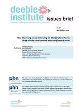 Deeble Issues Brief No. 30: Improving access to housing for Aboriginal & Torres Strait Islander renal patients