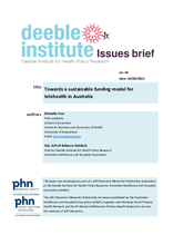 Deeble Issues Brief No. 43: Towards a sustainable funding model for telehealth in Australia