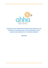 AHHA submission to the IHPA ANACC consultation