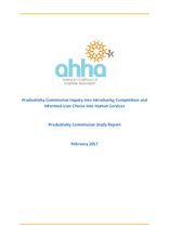 AHHA Submission to Productivity Commission Inquiry on Competition and Human Services study report