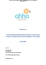 Submission to the House of Representatives Standing Committee on Health Inquiry into Chronic Disease