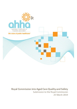AHHA Submission the Royal Commission in Aged Care Quality and Safety