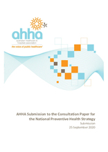 AHHA Submission to the Consultation Paper for the National Preventive Health Strategy