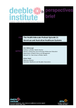 Deeble Institute Perspectives Brief No.4: The Australian and American Health Systems