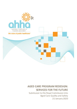 AHHA Submission – Royal Commission into Aged Care – Program Redesign