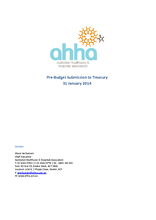 AHHA Pre-budget Submission 2014-2015