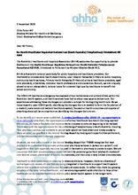 AHHA response - SA telepharmacy amendment bill 2020