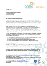 AHHA Submission to the Standing Committee on Indigenous Affairs Inquiry