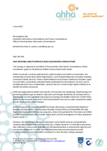 AHHA Submission to the Office of the Australian Information Commissioner on the Review of the National Health (Privacy) Rules 20