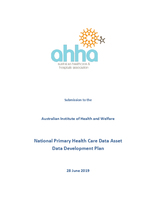 AHHA Submission to the AIHW National Primary Health Care Data Asset Data Development Plan Consultation