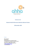 AHHA Submission to NPHA Indicators Review