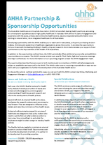 AHHA Sponsorship Opportunities