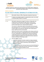 Allied Health Rural Generalist Accreditation System