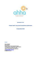 AHHA Submission to Private Health Insurance Consultations