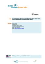 Deeble Institute Issues Brief No.14: An evidence-based approach to reducing discharge against medical advice