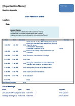 Tool 6: meeting agendas