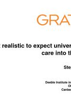 Stephen Duckett, Grattan Institute