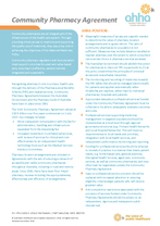 Community Pharmacy Agreement