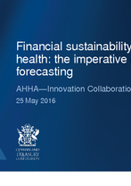 Carmen Tintos and Mark Baseley - Financial sustainability in public health: the imperative for forecasting