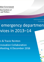 Sarah Jones and Tracie Reinten - Use of Emergency Departments and GP Services in 2013-14