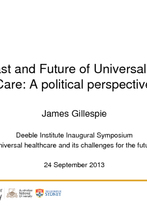 James Gillespie, Menzies Centre for Health Policy