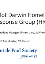 Mike Byrne and Sam Bowden - 2016 Pilot Darwin Homelessness Response Group