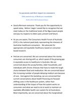 Rebecca Vassarotti, Consumer's Health Forum