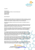 AHHA submission: Inquiry into Palliative Care in Tasmania
