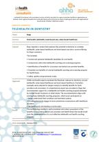 Telehealth in Dentistry