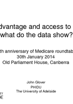 John Glover, University of Adelaide