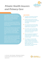 Private Health Insurance and Primary Care