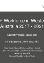 Adjunct Professor Janice Bell - Workforce in Western Australia 2017-2021