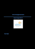 AHHA Budget Submission 2013-14
