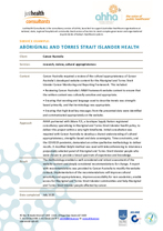 Aboriginal and Torres Strait Islander health