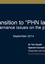Tim Smyth - Primary Care (transition to PHOs)