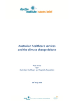 Issue Brief - Climate Change and Health