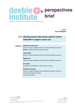 Deeble Perspectives Brief No. 11: Moving towards value-based patient-centred telehealth to support cancer care