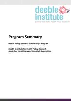 Program Summary 2022