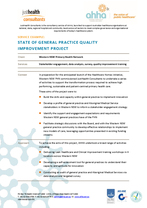State of general practice quality improvement project
