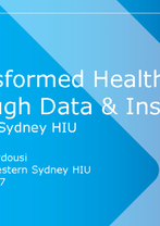 Western Sydney HIU - Transformed Health Through Data & Insights