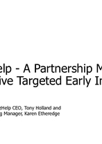 Tony Holland and Karen Etheredge - OzHelp: A Partnership Model for Early Intervention